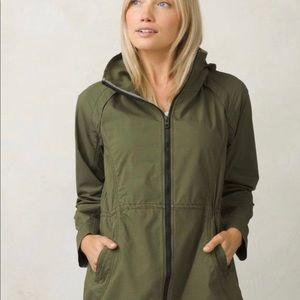 Prana cargo green horizon anorak jacket, large
